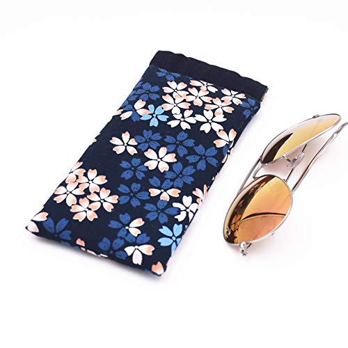 Eyeglass Cases Cotton Eyeglasses Pouch Sunglasses bag with Spring Clip (Sakula 2 PCS) by GGT (Image #1)