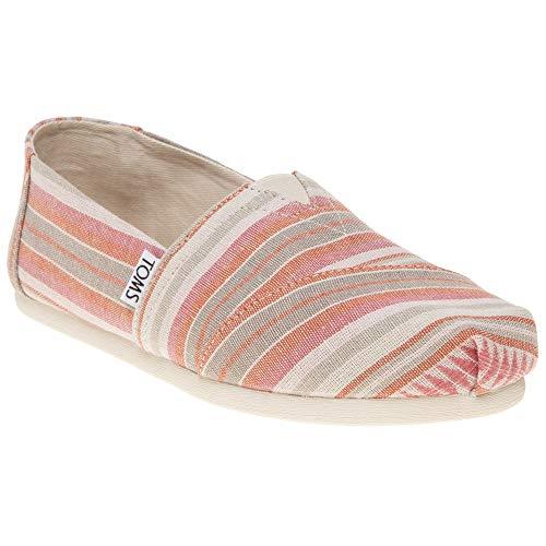 TOMS Women's Seasonal Classics Coral Blanket Stripe Loafer