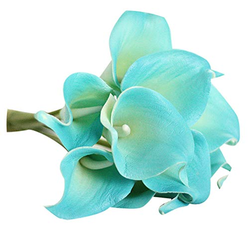 Zalin 6 PC Artificial Touch Lily Fake Flower Wedding Home Decor Bouquet Artificial Wedding Flowers,E