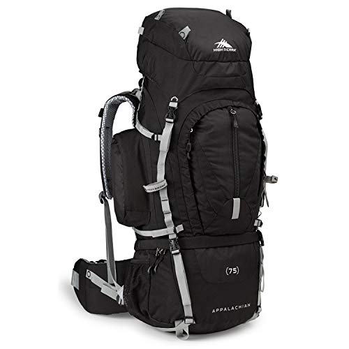 High Sierra Appalachian 75 Internal Frame Backpack, Black/Black/Silver