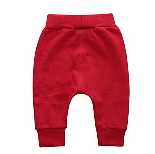 Sweatpants Boys Newborn Baby - Baby Pants,❤️ Infant Toddler Boy Girl Solid Pencil Pants Warm Cotton Leggings Autumn Winter Bottoms Trouser 0-2T (0-6 Months, Red)