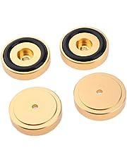 SDENSHI 4PCS 40mm Speaker Floor Stand Speaker Box Pad Speaker Base Pad Gold