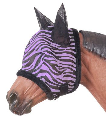 Tough-1 Zebra Mesh Fly Mask Zebra by Tough-1