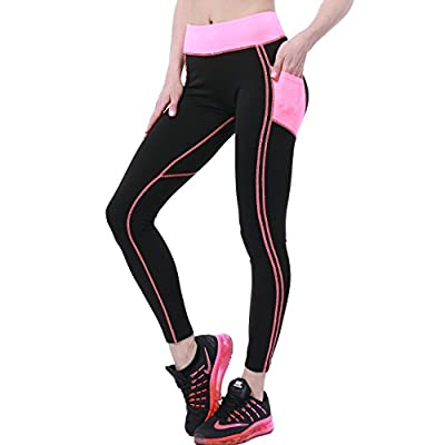 OVESPORT Women High Waist Ankle Length Workout Skinny Active Yoga Sports Leggings