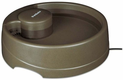 PetSafe Current Pet Water Fountain, Circulating Drinking Fountain for Cats and Dogs, Large, Brown, 120 oz. Water Capacity