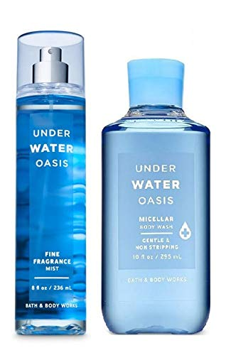Bath and Body Works UNDERWATER OASIS Gift Set - Fine Fragrance Mist and Shower Gel - Full Size