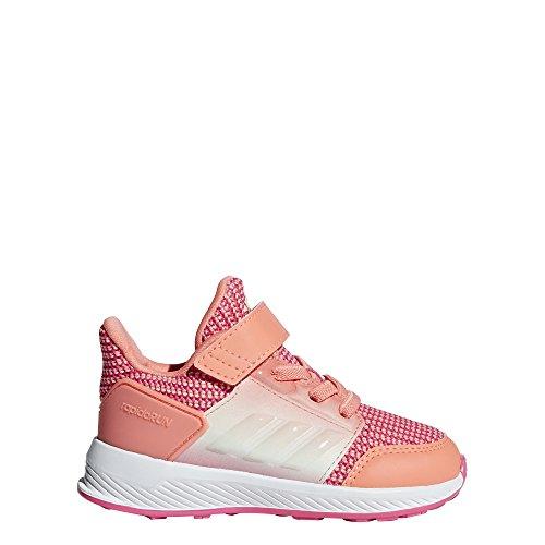 adidas Originals Baby RapidaRun Running Shoe, Chalk Coral/White/Real Pink, 9K M US Toddler