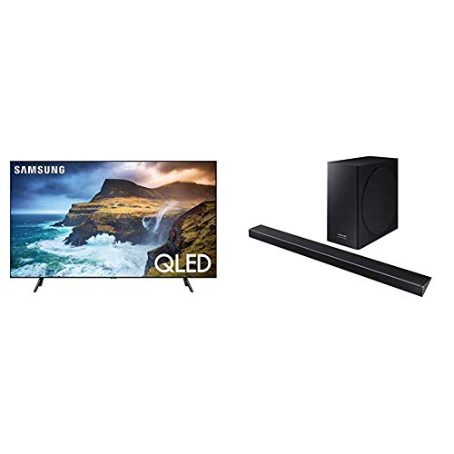 Samsung QN55Q70RAFXZA Flat 55'' QLED 4K Q70 Series (2019) with Harman Kardon HW-Q70R Acoustic Beam Q70R Series - Acoustic Bar Sound