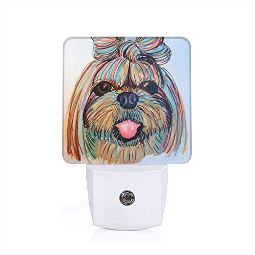 (MiniRD Shih Tzu Head Baby Dog Pupy Women Themed 3D Printed Led Night Light Lamp Bedroom Decorations Decor Home Wall Ornament Merchandise Supplies Accessories Items Products Glow)