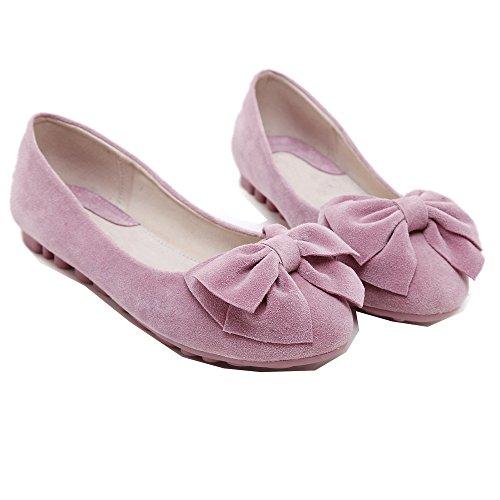 Mädchen Bogen Weiche Einzelschuhe Gemütlich Flache Schuhe Ballerinas Rosa