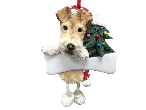 Terrier Wire - Wire Fox Terrier Ornament with Unique