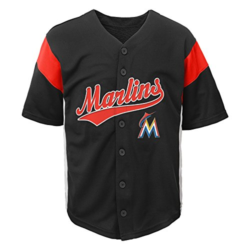 OuterStuff MLB Miami Marlins Boys Fashion Jersey, Black, 2T