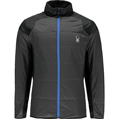 Spyder Glissade Insulated Jacket - Men's Polar/Black/French Blue, L (Snowboarding Spyder Jackets)