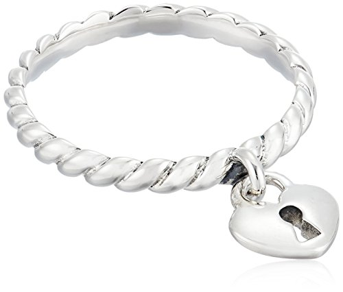 (Chamilia Heart Lock Stackable Ring, Size 8)