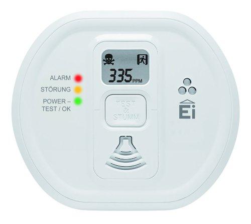 Ei Electronics Ei 207 D Kohlenmonoxidwarnmelder (mit LCD-Display, für Wohnung, Camping und Boot, 7 Jahre Produktlebensdauer) weiß, 1 Stück