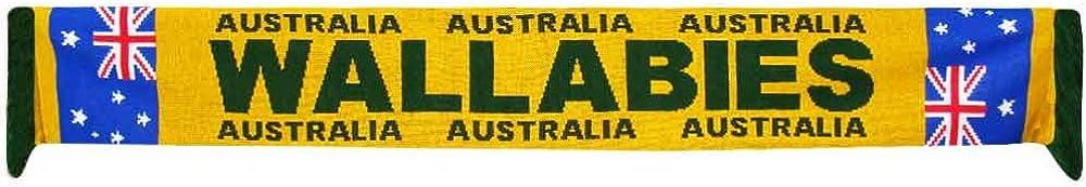 100/% Acrylic Wallabies Australia Rugby World Cup Scarf