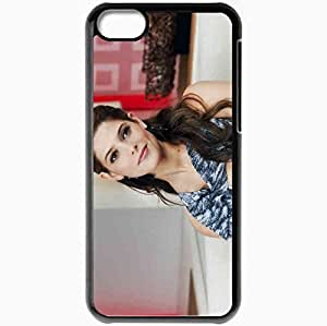 Personalized iPhone 5C Cell phone Case/Cover Skin Ashley greene brunette actress earrings Actress Black