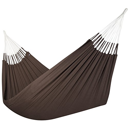 Jumbo Colombian Hammock - Double 63 x 95 inches - Natural Cotton Cloth (Cocoa) ()