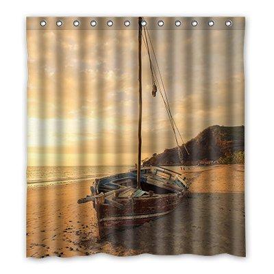 Amazon.com: Custom Steamship on ocean Shower Curtain Polyester 167cm ...
