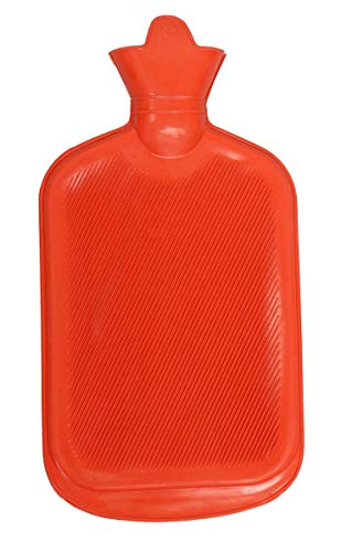 LISHOnn Hot Water Bag, Natural Rubber -BPA Free- Durable Hot Water Bag for Hot Compress and Heat Therapy, Random Colors…