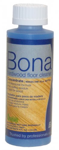 Bona Professional Hardwood Floor Cleaner 4 fl oz Concentrate Case [24 Bottles] by Bona