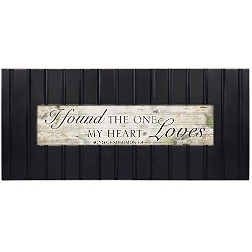Cottage Garden Found The One My Heart Loves Decorative Black 22 x 8 Panoramic Wall Photo Frame Plaque