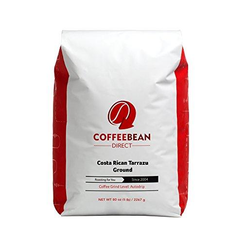 Coffee Bean Direct Costa Rican Tarrazu, Ground Coffee, 80-Ounce
