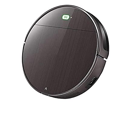PURE CLEAN Automatic Programmable Robot Vacuum Cleaner - Hepa Filter Pet Hair and Allergies Friendly - Auto Home Clean Carpet Hardwood Floor with Self Activation and Charge Dock