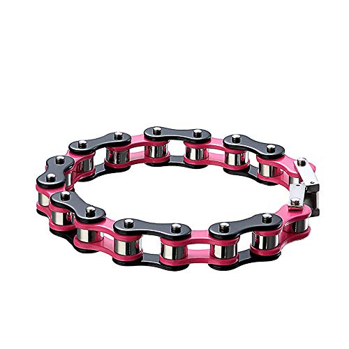 - MKHDD Women Men Double Color Stainless Steel Bracelet Bicycle Chain Punk Rock Motorcycle Chain Bracelet Jewelry