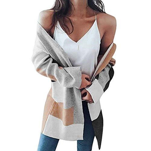 Stitch Couleur Cardigan Veste Bloc Xl Femme Parka Survêtements Taille Casual Couleur Hiver Chaud Hiver Zhrui Manteau Multicolore FwOqPqz