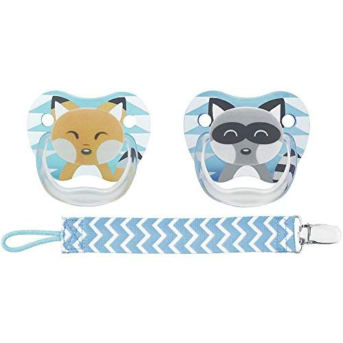 Dr. Brown's PreVent Pacifiers with Clip - Blue