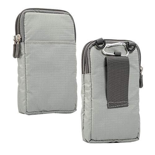 Moteen Mini Crossbody Handbag Gray, Wrist Handbag Case Outdoor Sport Running Cellphones Bag with Zipper Waist Bag Belt Clip Wallet Purse Pouch for Huawei/HTC/Sony Smartphones or Small Tablets