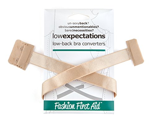 十二改善する橋脚ローエクスペクテ-ション Low Expectations:背中空きドレス用ブラホック位置調整、ベージュ、1個