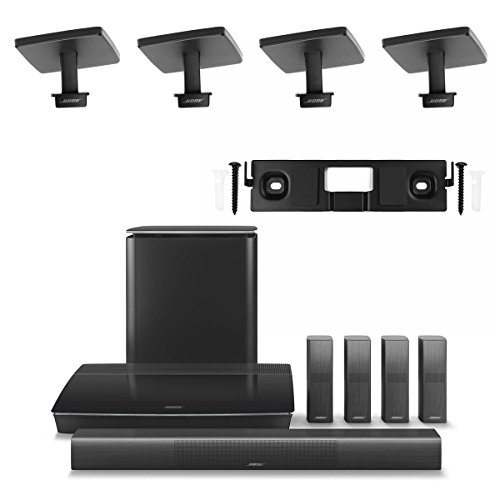 Bose Lifestyle 650 Home Entertainment System with Ceiling Brackets (1 OmniJewel Center Channel Wall Bracket & 4 OmniJewel Ceiling Brackets) - Black by Bose