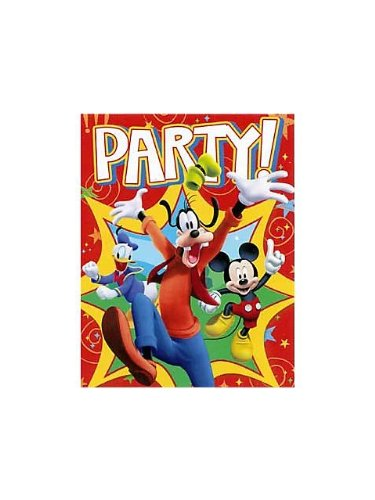 Mickey Mouse 'Fun and Friends' Invitations w/ Env. (8ct) (Birthday Invitations Mickey Mouse)
