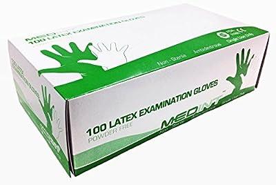 Gloves Latex Examination 100/Box Exam Glove Powder Free Disposable MEDINT