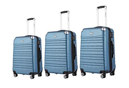 Expandable Hardside Suitcase 3-Piece Luggage Sets with Double Spinner Wheels TSA Locks