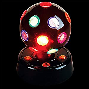 Kicko 7 Inch Disco Light – LED Multi-colored Revolving Lighting Ball – Perfect for Home and Party Decorations, Stage Lights, Rave, School Festivals, Stress Reliever