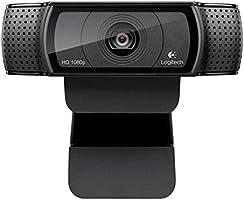 Logitech Webcam Full HD 1080P 15Mp com Foco Automático e Som Stereo, Preto