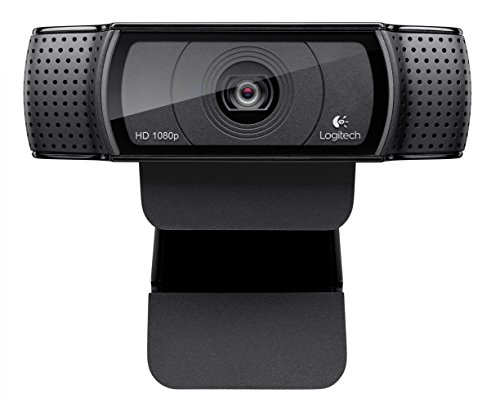 Logitech HD Pro Webcam C920, Widescreen Video Calling and Recording, 1080p Camera, Desktop or Laptop Webcam (Capture One Express)