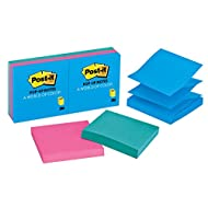 Post-it Pop-up Notes, 3 in x 3 in, Jaipur Collection, 6 Pads/Pack, 100 Sheets/Pad (R330AUSS)