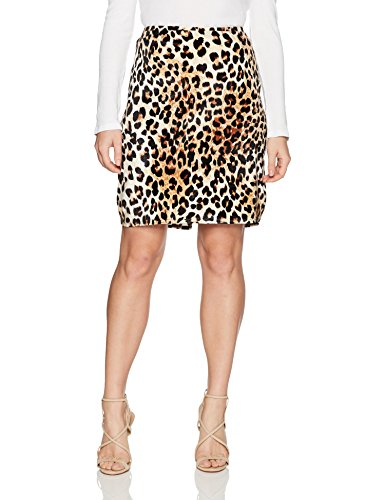 Star Vixen Women's Petite Knee Length Classic Stretch Pencil Skirt, Leopard Print, PL (Stretch Leopard Skirt)