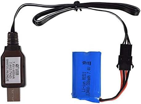 Color : White 3.7v X2 Charger SM-4P Li-ion Battery Electric RC Toys R//C Car Boat USB Charger HNIWDJ 7.4v