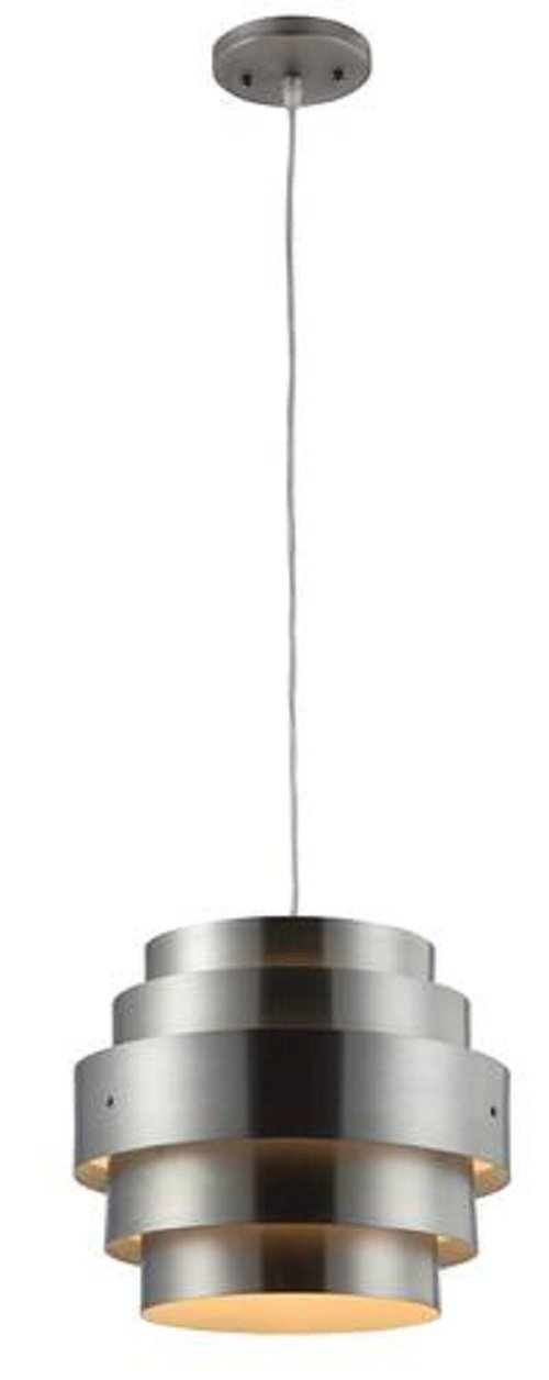 Retro Brushed Nickel Pendant 12'' - 1 Light bulb