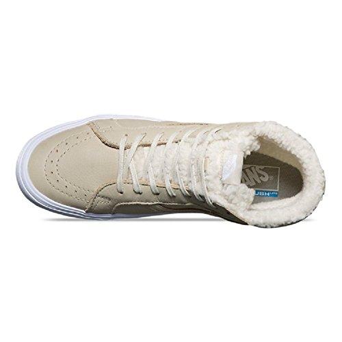 Vans Sk8 Hi Lite Reissue Sherpa Cemento / Scarpe Da Uomo Bianco Vero Taglia 10.5