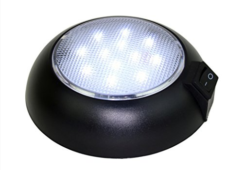 Battery Powered LED Dome Light - Magnetic or Fixed Mount - High Power Cool White LED Downlight for Home, Auto, Truck, RV, Boat and Aircraft ()