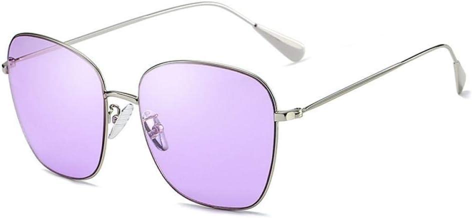Retro Polarizadas Gafas de Sol para Mujer Hombre Vintage Cuadradas Espejo Anteojos, Gafas de Sol con Montura metálica para Hombres y Mujeres Gafas de protección UV