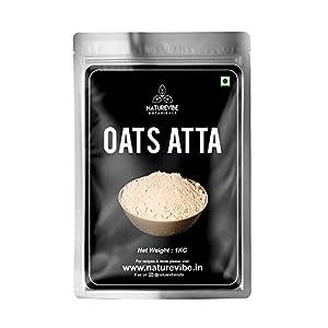 Naturevibe Botanicals Organic Oats Flour – 1Kg | Oats Atta