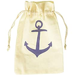 "Kate Aspen ""Voyages Anchor Muslin Favor Bag, Set of 12"