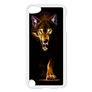 Custom Colorful Case for Ipod Touch 5, Fire Wolf Cover Case - HL-R663292